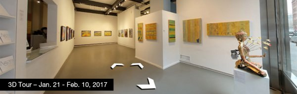Take a virtual tour of the January 21, 2017 exhibition at Agora Gallery