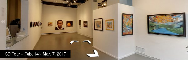 Take a virtual tour of the February 14, 2017 exhibition at Agora Gallery