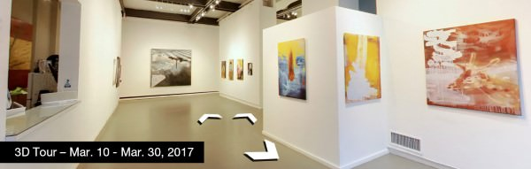Take a virtual tour of the March 10, 2017 exhibition at Agora Gallery