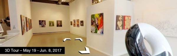 Take a virtual tour of the May 19, 2017 exhibition at Agora Gallery
