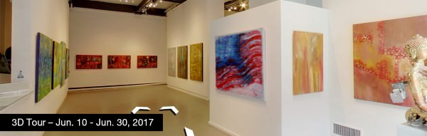 Take a virtual tour of the June 10, 2017 exhibition at Agora Gallery
