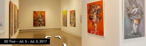 Take a virtual tour of the July 05, 2017 exhibition at Agora Gallery