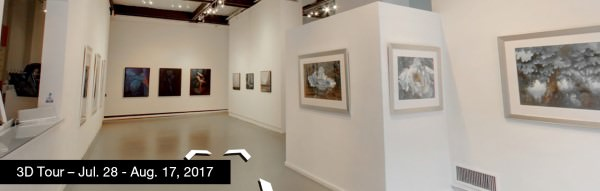Take a virtual tour of the July 28, 2017 exhibition at Agora Gallery