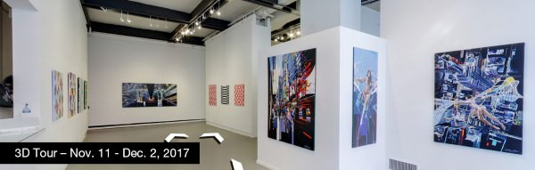 Take a virtual tour of the November 11, 2017 exhibition at Agora Gallery