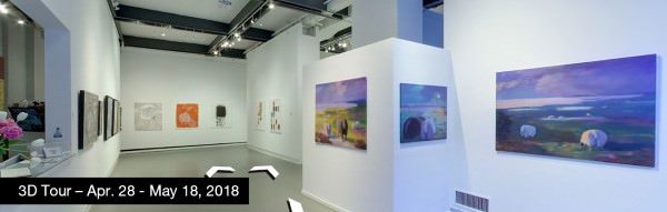 Take a virtual tour of the April 28, 2018 exhibition at Agora Gallery