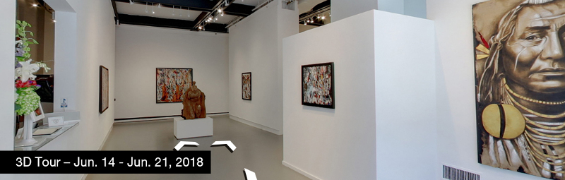 Take a virtual tour of the June 14, 2018 exhibition at Agora Gallery