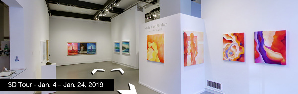 Take a virtual tour of the January 04, 2019 exhibition at Agora Gallery