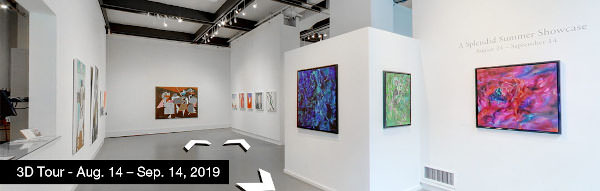Take a virtual tour of the August 24, 2019 exhibition at Agora Gallery