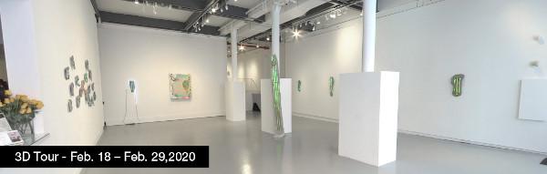 Take a virtual tour of the Februar 18, 2020 exhibition at Agora Gallery